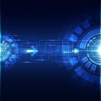 Tecnología abstracta azul