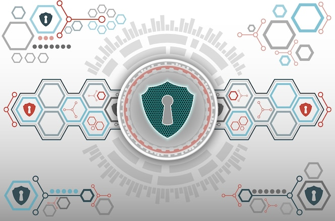 Tecnología abstracta de fondo de seguridad