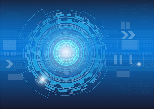 Tecnología abstracta digital sobre fondo azul oscuro