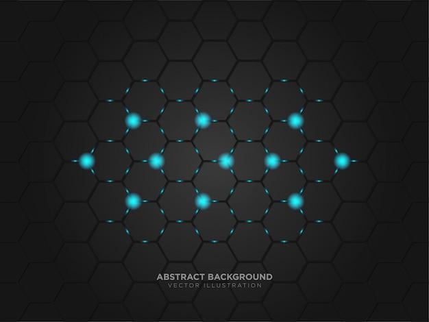 Tecnología abstracta diseño de color negro metálico tecnología moderna