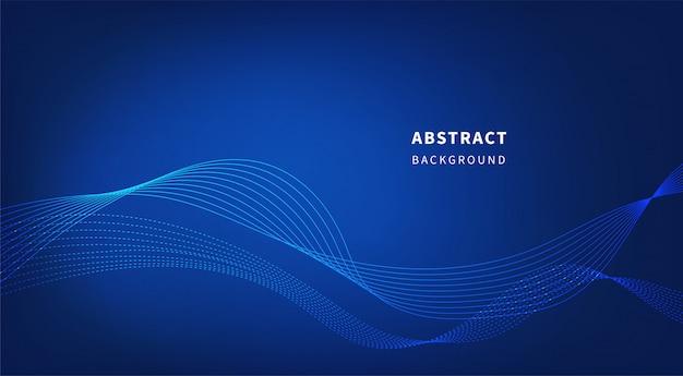 Tecnología abstracta fondo azul.