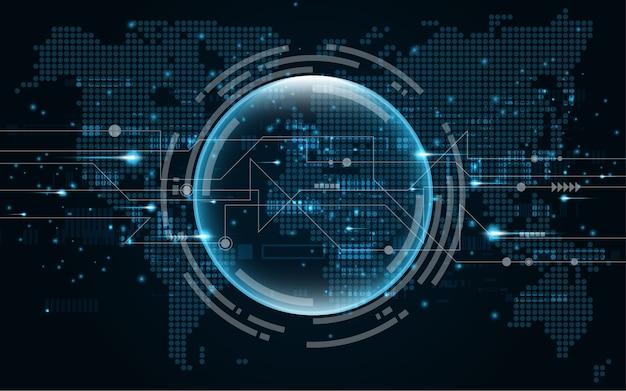 Tecnología abstracta de fondo de comunicación de alta tecnología.
