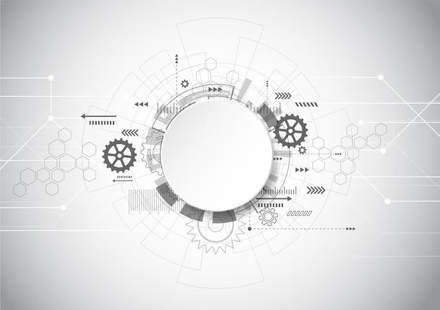 Tecnología abstracta fondo geométrico gris