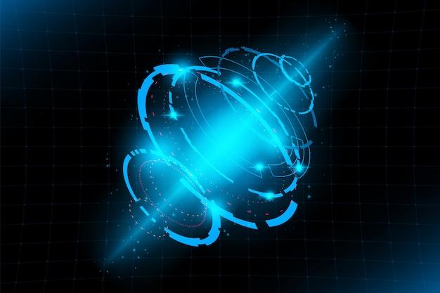 Tecnología abstracta interfaz futurista