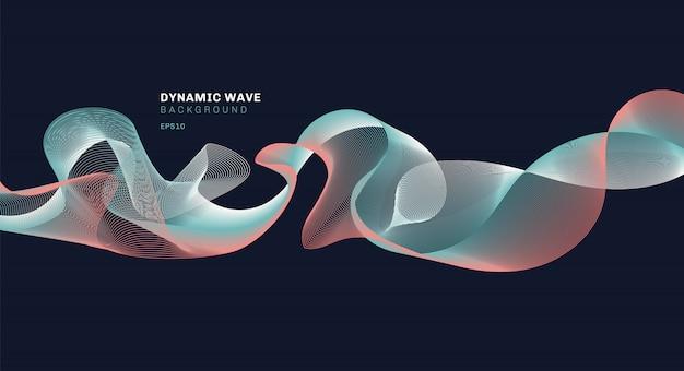 Tecnología abstracta con líneas de ondas dinámicas.