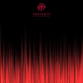 Tecnología abstracta movimiento de líneas rojas