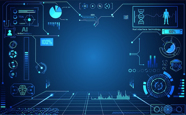 Tecnología abstracta ui futurista