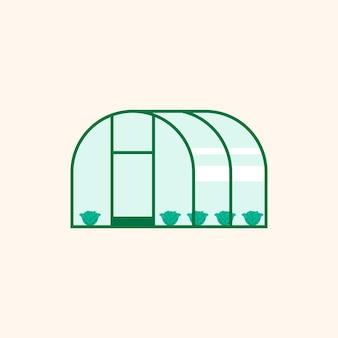 Tecnología de agricultura digital de icono de invernadero inteligente