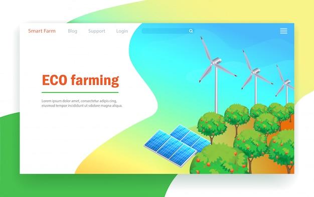 Tecnología de agricultura ecológica.