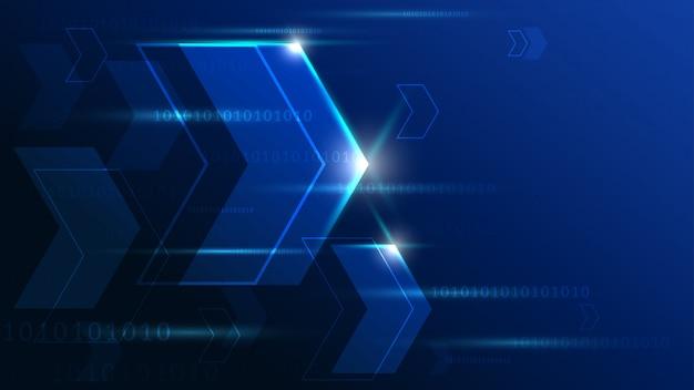 Tecnología de alta tecnología con fondo geométrico.