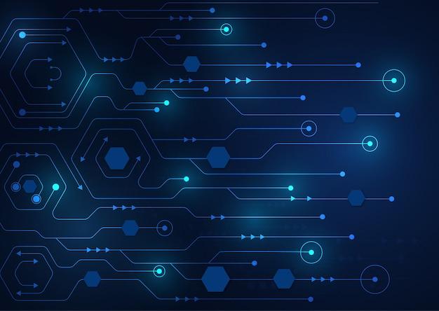 Tecnología de alta tecnología geométrica y fondo de sistema de conexión.