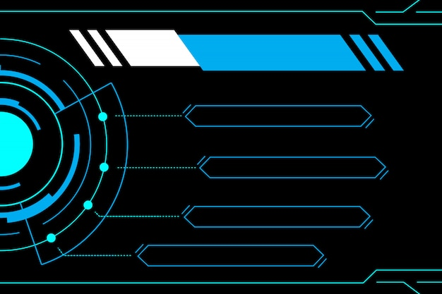 Tecnología azul abstracta interfaz de futuro