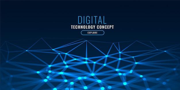 Tecnología azul estilo polivinílico bajo ilumina fondo