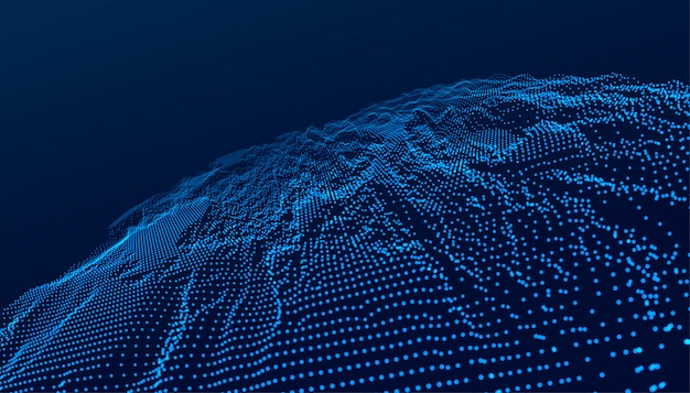 Tecnología azul paisaje digital fondo futurista