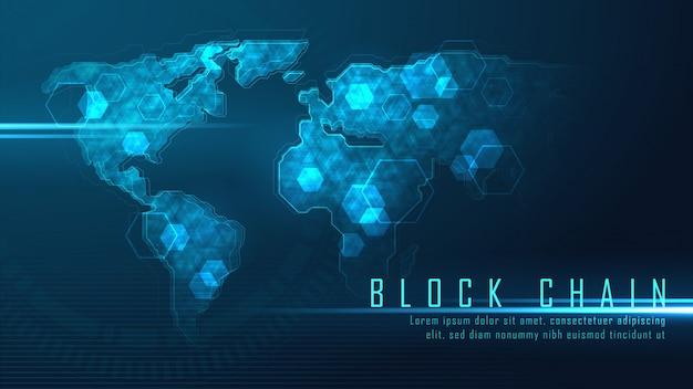 Tecnología blockchain con conexión global.