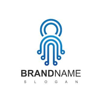 Tecnología blue line octopus logo