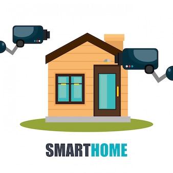 Tecnologia de casa inteligente con camara cctv