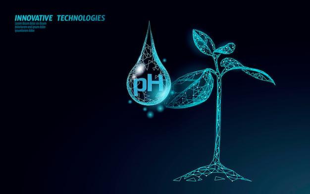 Tecnología de ciencia química de análisis de laboratorio de ph del agua. Vector Premium