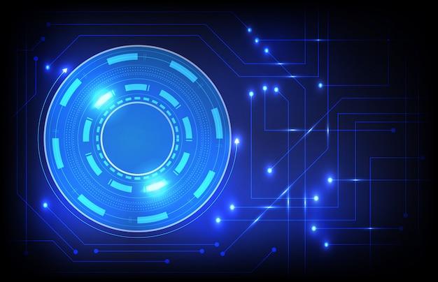 Tecnología de círculo futurista