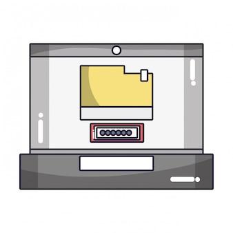 Tecnología de computación de dibujos animados