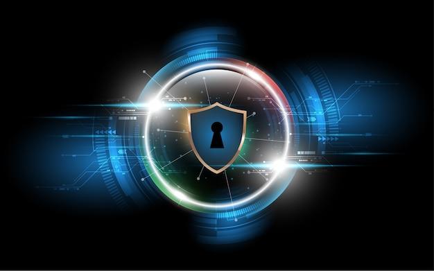 Tecnología de concepto de protección de datos empresariales de seguridad cibernética