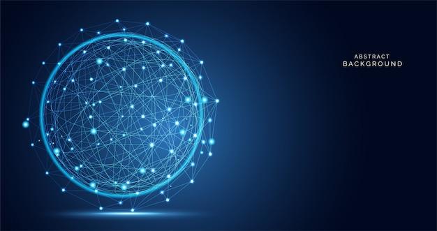 Tecnología de conexión de ciencia de red abstracta moderna