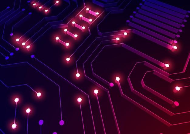 Tecnología de cpu de cerca con circuitos.