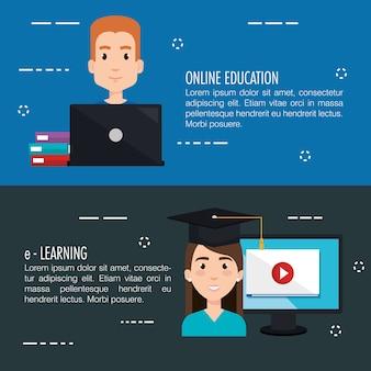 Tecnología de infografía de aprendizaje electrónico