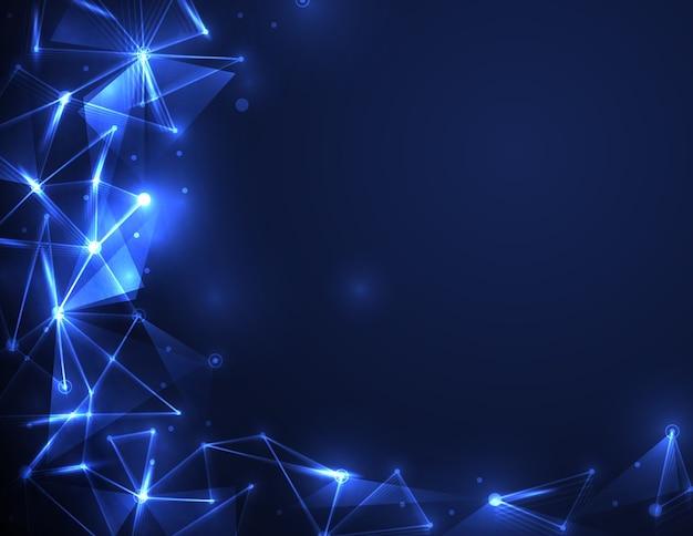 Tecnología digital abstracta molécula futurista
