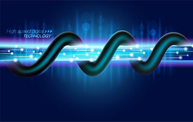 Tecnología digital de fibra óptica de alta velocidad.