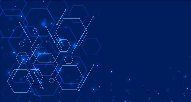 Tecnología digital con formas hexagonales