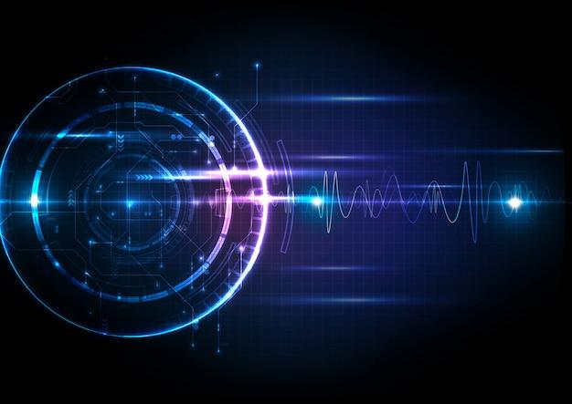 Tecnología digital futurista ligera con circuito