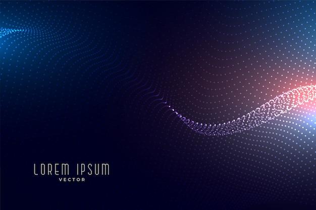 Tecnología digital tecnología de onda de partículas abstracta