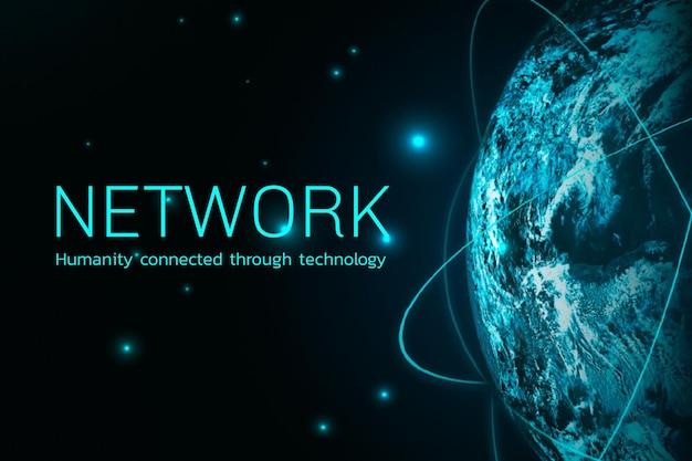 Tecnología digital de vector de red global