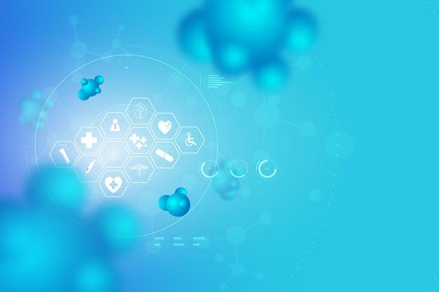 Tecnología de diseño de diagnóstico de escaneo humano de atención médica abstracta