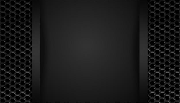 Tecnología de diseño de diseño de marco negro abstracto de forma superpuesta con brillos y efecto de luz