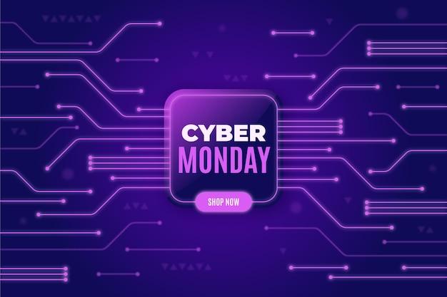 Tecnología de diseño realista cyber monday