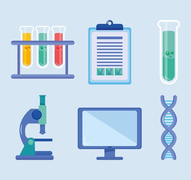Tecnología e ingeniería genética Vector Premium