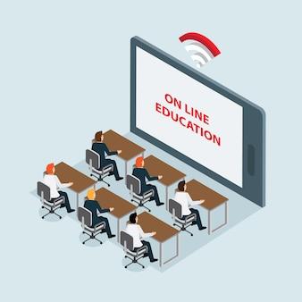 Tecnología educativa con isométrica