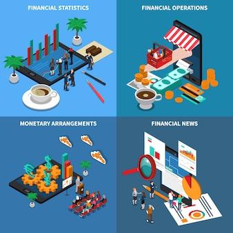 Tecnología financiera isométrica