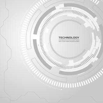Tecnología de fondo abstracto de alta tecnología gris suave