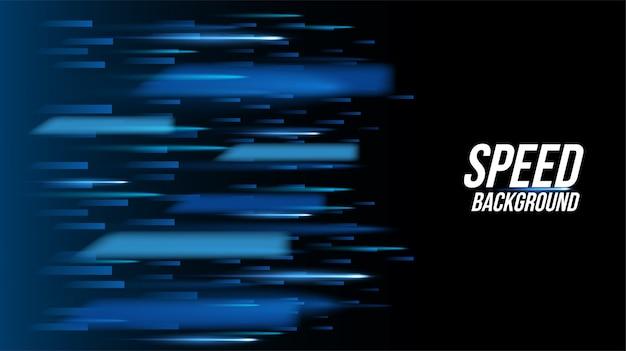 Tecnología de fondo abstracto carreras de alta velocidad para deportes de luz de larga exposición en negro