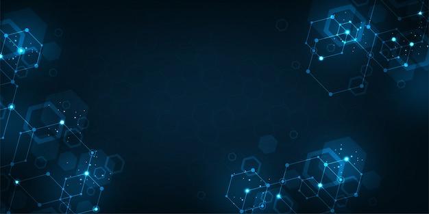 Tecnología de fondo en el concepto de red de datos.