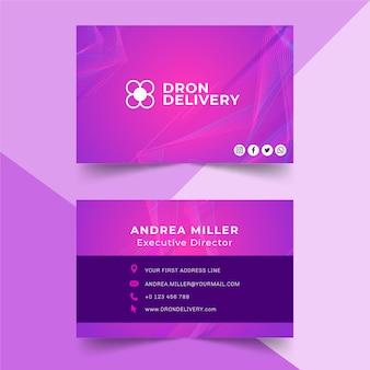Tecnología y futura tarjeta de visita de doble cara