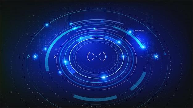Tecnología futurista fondo abstracto azul oscuro