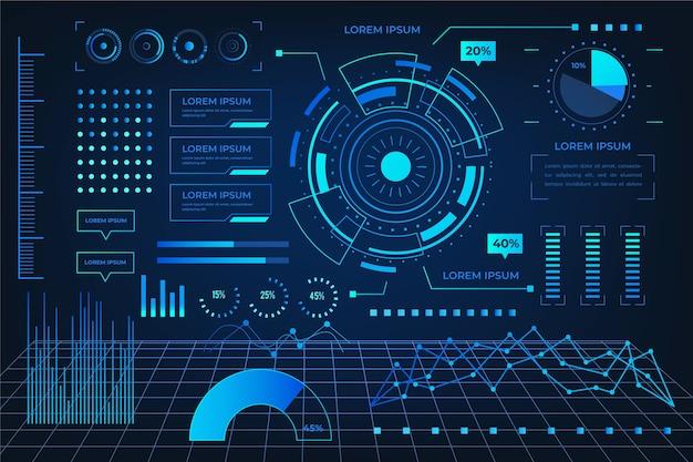 Tecnología futurista infografía