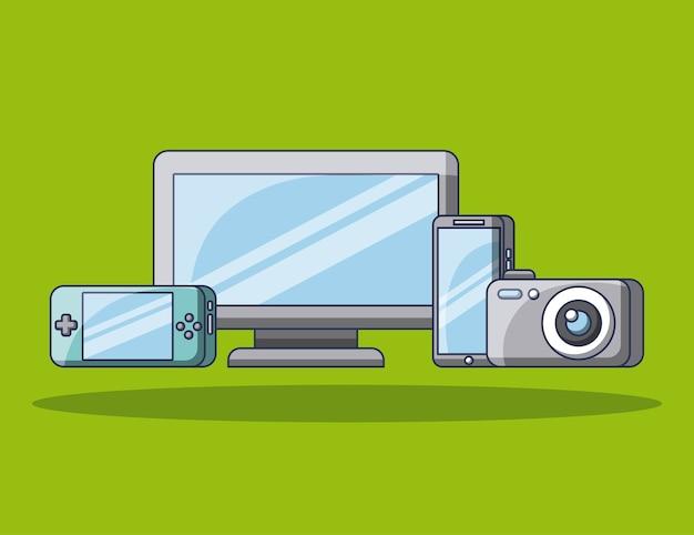Tecnología gadgets computadora cámara móvil jugar consola