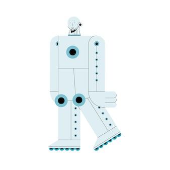 Tecnología de inteligencia artificial para caminar con robots.