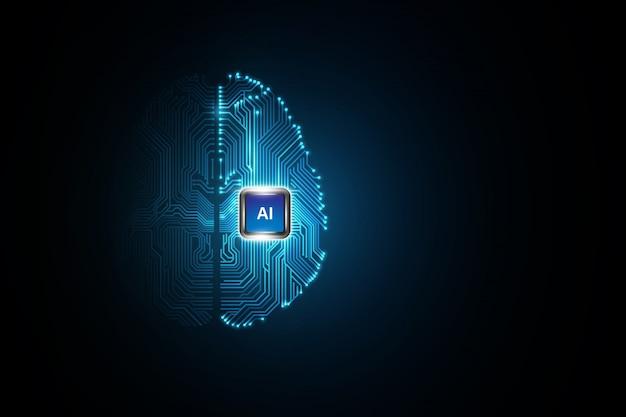 Tecnología inteligencia artificial cerebro