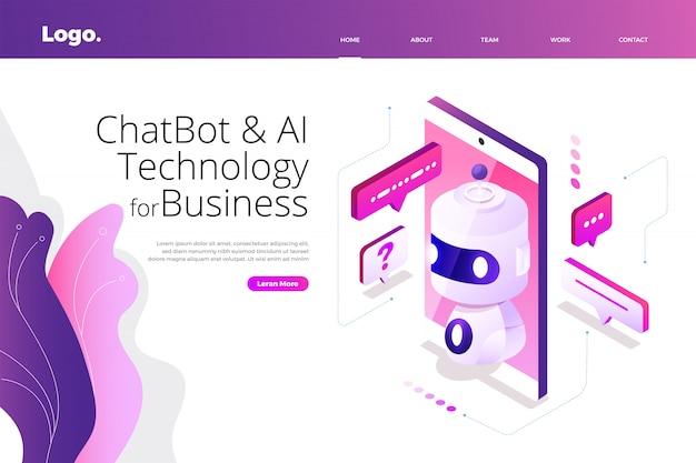 Tecnología isométrica de chatbot